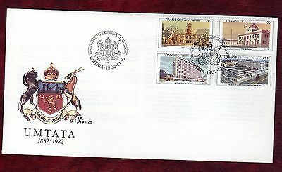 TRANSKEI STAMPS- Umtata town views , FDC, 1982