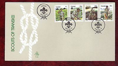 TRANSKEI STAMPS- 75th Anniversary of Scout Movement , FDC, 1982