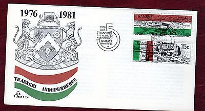 TRANSKEI STAMPS- Independence Anniversary, FDC, 1981