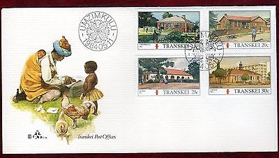 TRANSKEI STAMPS- Post Offices , FDC, 1984