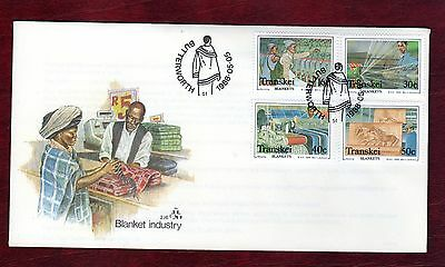 TRANSKEI STAMPS- Blanket Industry, set on FDC  1988