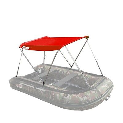 ALEKO Summer Canopy Boat Tent Sun Shelter and Sunshade for Inflatable Boats Red