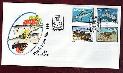 TRANSKEI STAMPS-Seafood,  FDC  1989