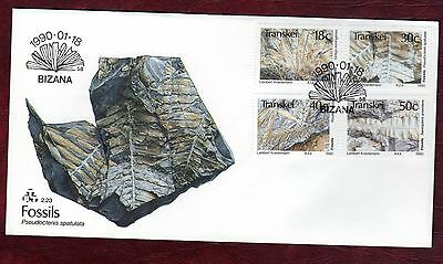TRANSKEI STAMPS-Plant Fossils,  FDC  1990