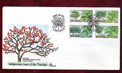 TRANSKEI STAMPS-Trees,  FDC  1989