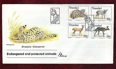 TRANSKEI STAMPS-Protected Animals,  FDC  1988
