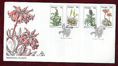 TRANSKEI STAMPS- Medicinal Plants 1st series,   FDC, 1977