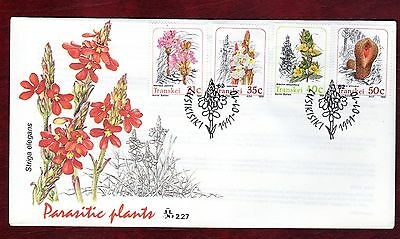 TRANSKEI STAMPS-Parasitic Plants,  FDC  1991