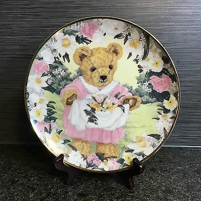 """Franklin Mint Teddy's Spring Bouquet Plate By Sarah Bengry LIMITED EDITION 8"""""""