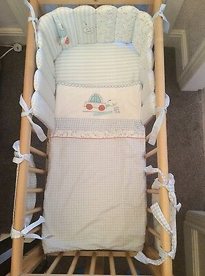 boys mothercare crib bedding  with cot pockets with spare sheet