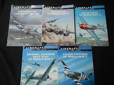 Aircraft of the Aces:Men & Legends (5 books)