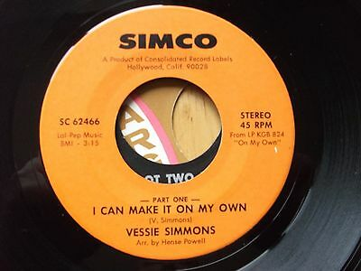 Northern Soul - Vessie  Simmons - I  Can  Make  It  On  My  Own - Simco  Records