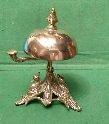 Stunning 1880s Antique Ornate Brass Desk/Counter Bell with dated diamond mark