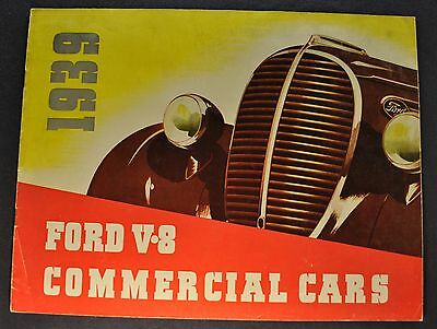 1939 Ford Truck Brochure Pickup Panel Sedan Delivery Nice Original-Not A Reprint
