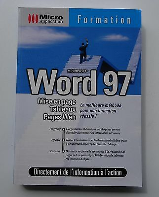 Livre : formation Word 97 (Micro Application) - Comme Neuf