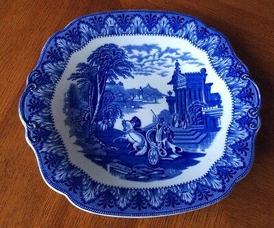"Cauldon Blue  & White ""Chariot"" Pattern Bread & Butter Plate"