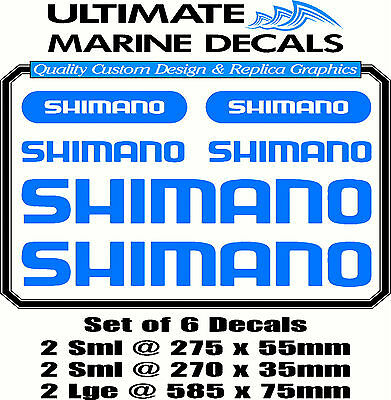 Shimano Fishing Boat Sticker Decal Marine Set of 6