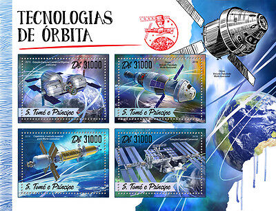 Sao Tome & Principe 2016 MNH Orbit Orbital Technology 4v MS Space Station Stamps