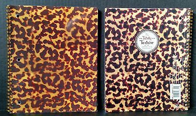 Lot of 2 Studio C Totally Tortoise 1 Subject Spiral Notebooks, College Rule ~