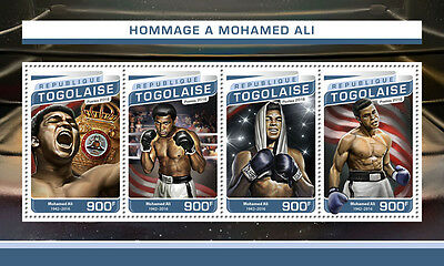 Togo 2016 MNH Muhammad Ali Tribute 4v M/S Boxing Sports Stamps