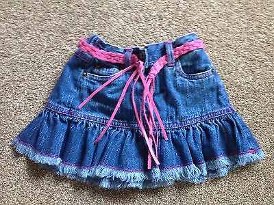 Early Days Baby Girls Denim Skirt With Tassel Belt  Age 6-12 Months Great Cond