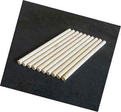 10 x Wooden Dowels, Craft Sticks 8mm thick, 10cm long