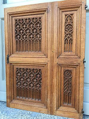 WINTER SALE !!! Stunning BIG SIZE Gothic panel in oak /Absolute top Quality !!!!