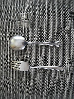 Sterling Silver Baby Spoon And Fork - Circa 1942  - Vintage
