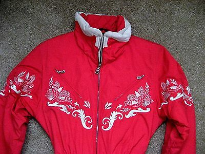 Bogner Embroidered Red Insulated Ski Snow Suit - Lovely - Size 8  -