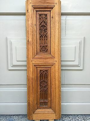Winter Sale!!! Gothic panel in oak