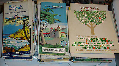 Lot of Vintage California road maps  + Vintage booklets some rare and forgotten