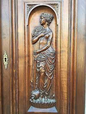 Stunning French Walnut Door Panel with carved lady  / Absolute top quality