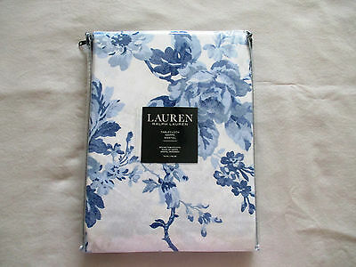 "NEW Ralph Lauren Tablecloth Floral French Country MIREILLE Blue White  70"" Round"