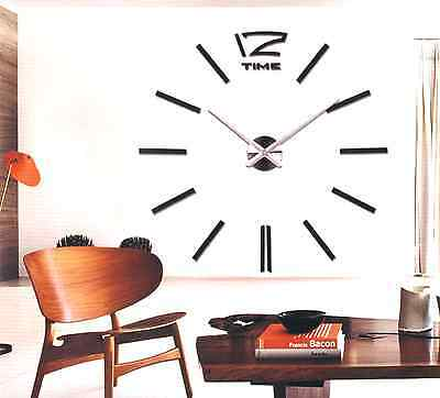 ORIGINAL RELOJ GRANDE ADHESIVO DE PARED, WALL CLOCK DIY, 3D 130 cm XXL