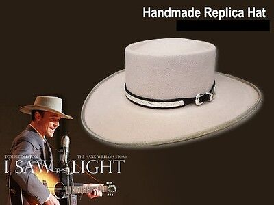 "Official Hank Williams Sr Replica Hat ""I Saw The Light"" Tom Hiddleston NEW 7 3/8"
