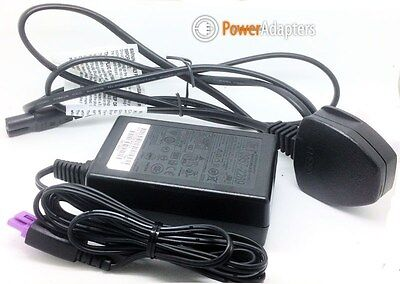 Original HP Photosmart Plus B209B Printer mains charger with uk power lead