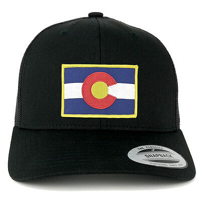 b8b20b3d FLEXFIT Colorado Flag Embroidered IronOn Patch Snapback Trucker Mesh  6606-FPA506