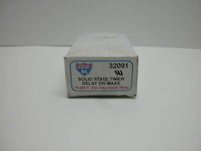 Interstate Electric 32091 19-288 V Solid State Timer Delay On Make New In Box