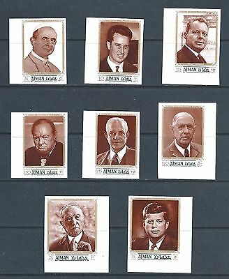 Ajman - Mnh 1970 Champions Of Peace - Imperforated Set
