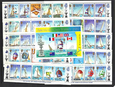 Solomon Is 1986 Americas Cup SC 570-575 FREE SHIPPING