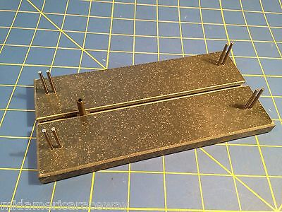 "Lucky Bob's #1020 Corian 7"" Chassis Jig for 1/24 Slot car Mid America Raceway"