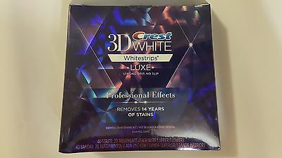 Crest 3D White Whitening Luxe Whitestrips Professional Effects 40Strips 20 Pouch