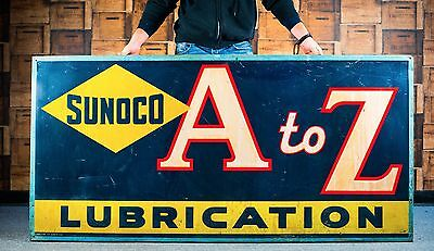 Original 1939 Sunoco Motor Oil Sign
