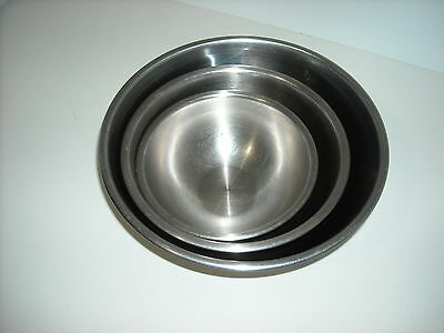 Vintage Vollrath 3 Pc Heavy Weight Stainless Steel Mixing Bowls from 50's/60's