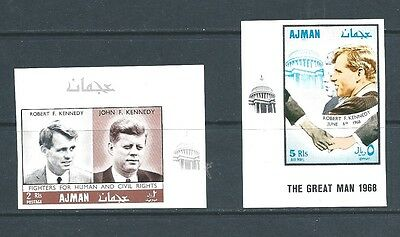 Ajman - Mnh 1968 Kennedy Brothers - Human And Civil Rights - Imperforated Set
