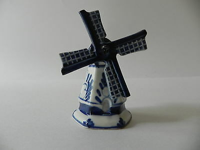 Delft Blue & White Porcelain Holland Dutch Windmill Numbered