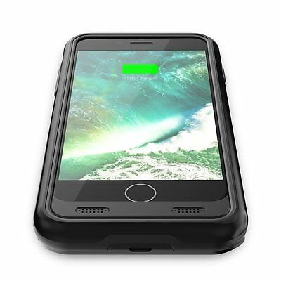 3100mAh iPhone 7 Battery Case Charger [Apple Authorized lightening Connector]-Bl