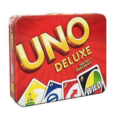 UNO Deluxe Family Card Game from Mattel Games Y5206