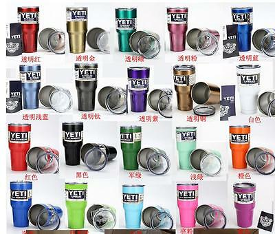30oz Yeti Rambler Bottle Outdoor Coolers Stainless Steel Insulation Cup Mug