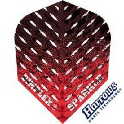 Red Black Fade Harrows Dimplex Sparkle Embossed Standard Shape Flights